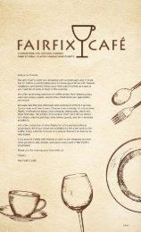 Fairfix Cafe Menu