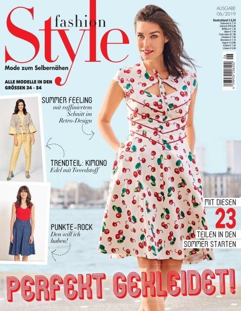 Näh-Zeitschrift Fashion Style Nr. 6/2019
