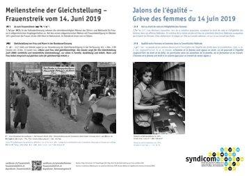 Meilensteine der Gleichstellung - Frauenstreik vom 14. Juni 2019 / Jalons de l'égalité - Grève des femmes du 14 juin 2019