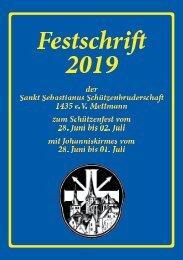 St. Seb. Schützenbruderschaft 1435 e.V. Mettmann - Festschrift 2019