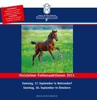 Holsteiner Fohlenauktionen 2011