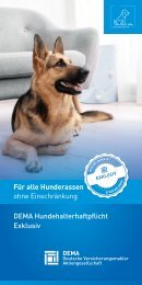 Flyer DEMA-Hundehaftpflicht Exklusiv