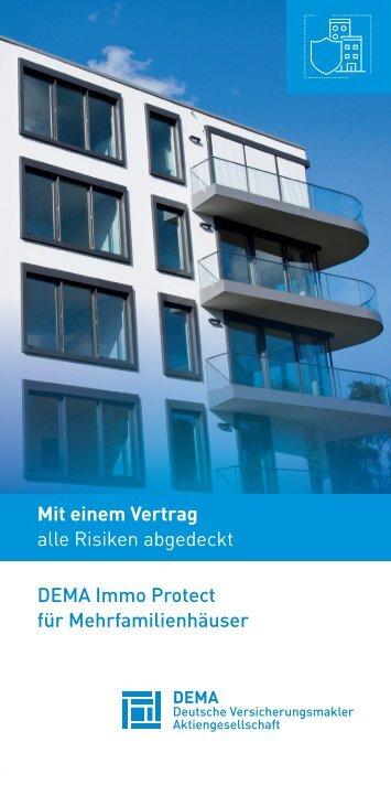 Flyer DEMA ImmoProtect für Mehrfamilienhäuser