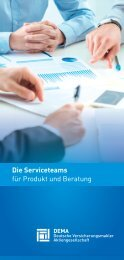 Flyer DEMA Serviceteams Produkt und Beratung