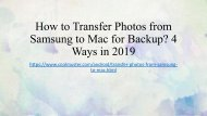 How to Transfer Photos from Samsung to Mac