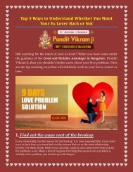 Top 5 to understood whearwe you want youe ex lover back or not