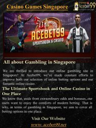 Casino Games Singapore