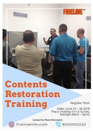 Contents Restoration Training