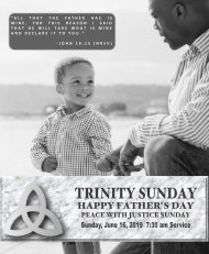 06_16_2019 0730 AM Service Trinity Sunday Fathers Day