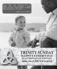 06_16_2019 1030 AM Service Trinity Sunday Fathers Day