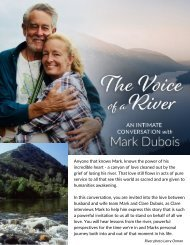 Voice of a River ~ an Intimate Conversation with Mark Dubios