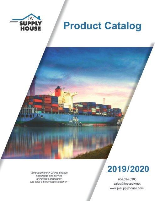 JW Supply House Product Catalog 2019 - 2020