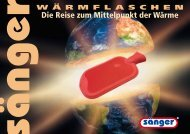 VIP Präsent - Saenger Waermflaschen Produktkatalog