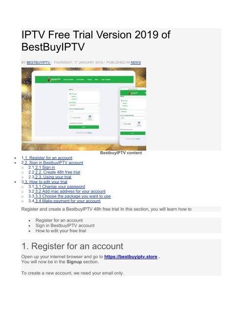 IPTV Free Trial Version 2019 of BestBuyIPT1