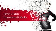 Femme Fatale Media - Modelling and Event staffing Agency
