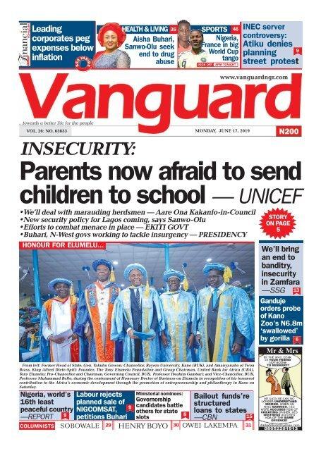 17062019 - Parents now afraid to send children to school — UNICEF