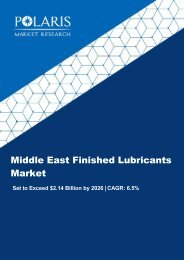 Middle East Finished Lubricants Market