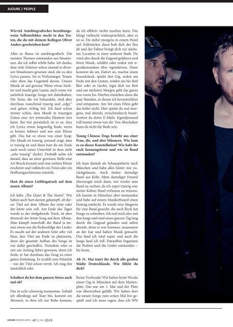AJOURE´ Magazin Juli 2019