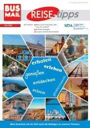 BusMail Reisetipps Ausgabe Juli 2019