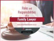 Responsibilities of Family Lawyer in Mandurah