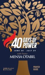 40 Days of Power Prayer Guide 2019