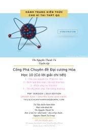 Công Phá Chuyên đề Đại cương Hóa Học 10 (Có lời giải chi tiết)
