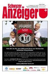 Schwyzer Anzeiger – Woche 25 – 21. Juni 2019