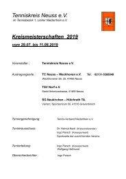 Kreismeisterschaften TK Neuss 2019