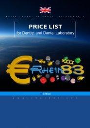2019 Rhein83 Price List