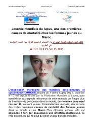 Journée mondiale du lupus , une des 1ères causes de la mortalité des femmes jeunes