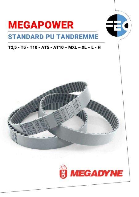 Standard PU tandremme - Megadyne Megapower - fecconsulting.dk