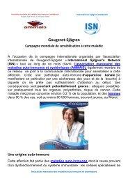 Gougerot-Sjögren campagne mondiale de sensibilisation à cette maladie