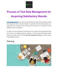 Process of Test Data Management for Acquiring Satisfactory Results pdf