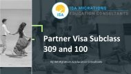 Apply for partner visa subclass 309 and 100   ISA Migrations and Education Consultants