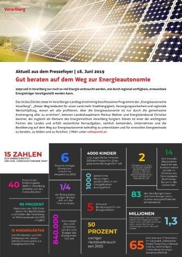 Aus dem Foyer | Energieautonomie