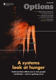 Options Magazine, Summer 2019 -  A systems look at hunger