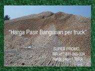 SUPER PROMO, WA +62 811-265-334, Harga Pasir 1 Truck