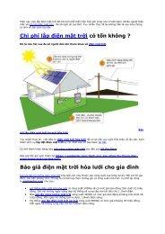 Báo giá lắp điện mặt trời áp mái hòa lưới tại võ giá solar uy tín nhất