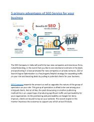 5 primary advantages of SEO Service for your business
