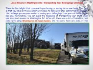 Local Movers in Washington DC: Transporting Your Belongings with Ease