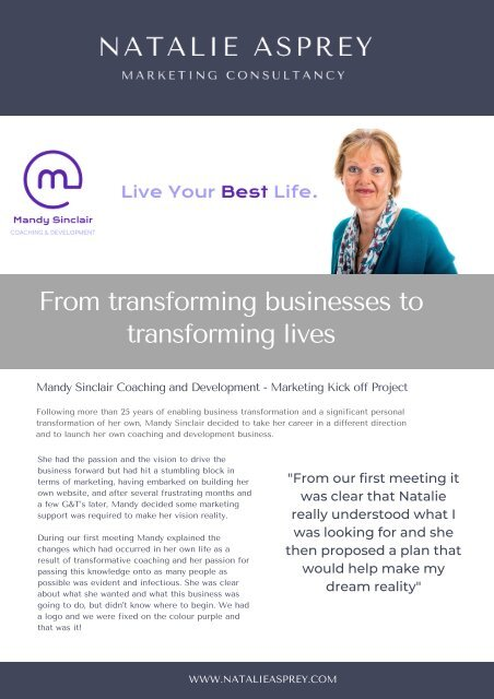 CASE STUDY_ From transforming businesses to transforming lives