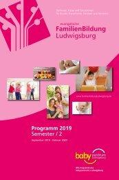 Semesterprogramm FamilienBildung Ludwigsburg 2-2019