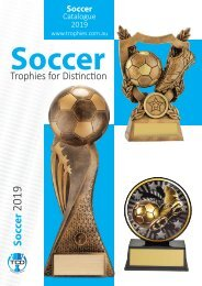 2019 Soccer Trophies for Distinction