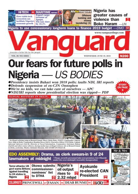 19062019 - Our fears for future polls in Nigeria — US BODIES