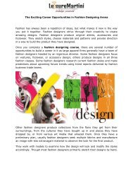 The Exciting Career Opportunities in Fashion Designing Arena