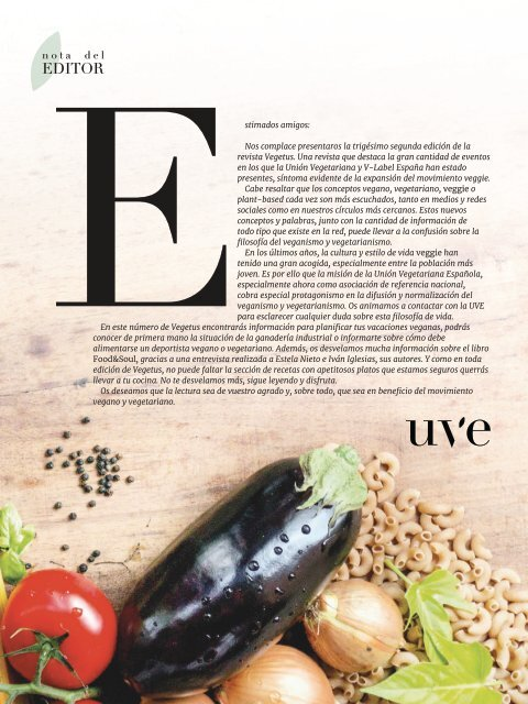 Revista Vegetus nº 32 ( Junio - Septiembre 2019)
