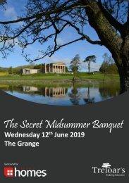 Treloar's Secret Midsummer Banquet Programme