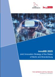 innoBB 2025 - Joint Innovation Strategy of the States of Berlin and Brandenburg