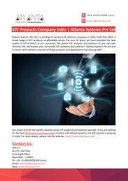 IOT Products Company India-Atlanta Systems Pvt Ltd