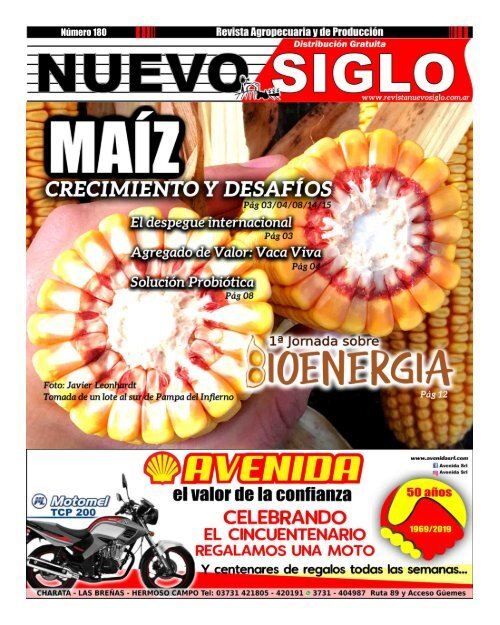 Revista Agropecuaria Nuevo Siglo 180